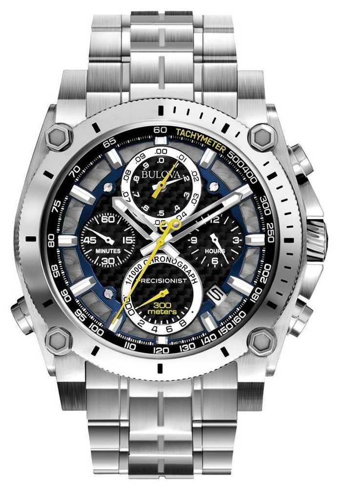BULOVA Precisionist Champlain Stainless Steel Chronograph 96G175
