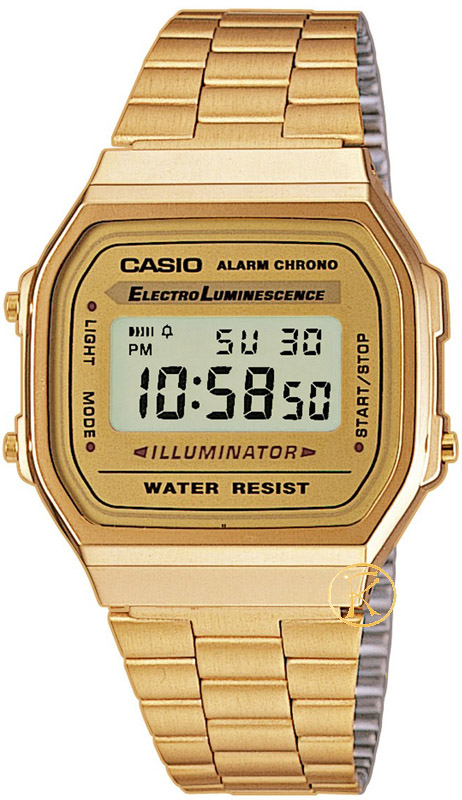 CASIO Collection Gold Stainless Steel A-168WG-9EF