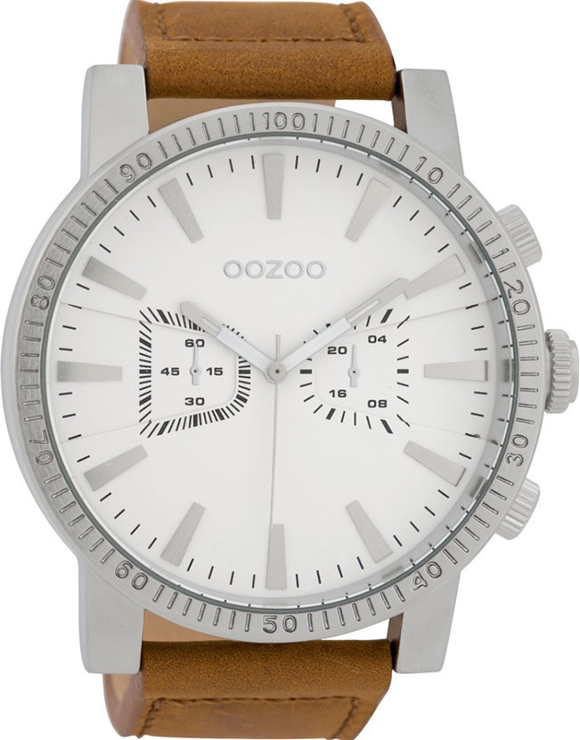 OOZOO Timepieces Brown Leather Strap C9645