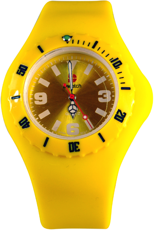 D-Watch Yellow Rubber Strap YL-SP022-YEL