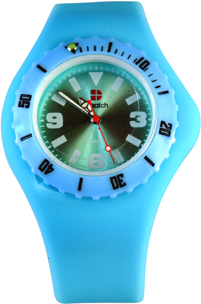D-Watch Light Blue Silicone Strap YL-SP022