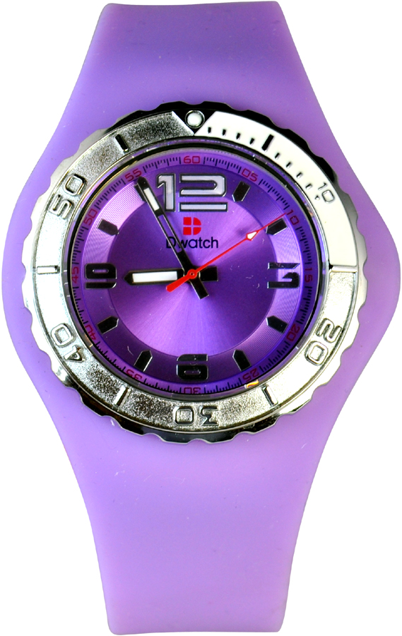 D-Watch Purple Silicone Strap TM-10083MB-05