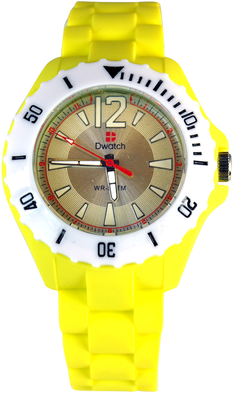 D-Watch Yellow Rubber Strap TM-1005-01