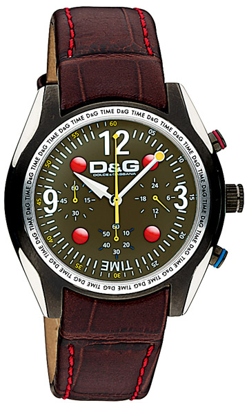 D&G Performance Βrown Leather Strap DW0312