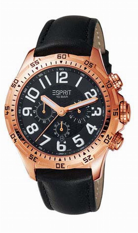 ESPRIT Hi-Level Night Black Rubber Strap ES101101004