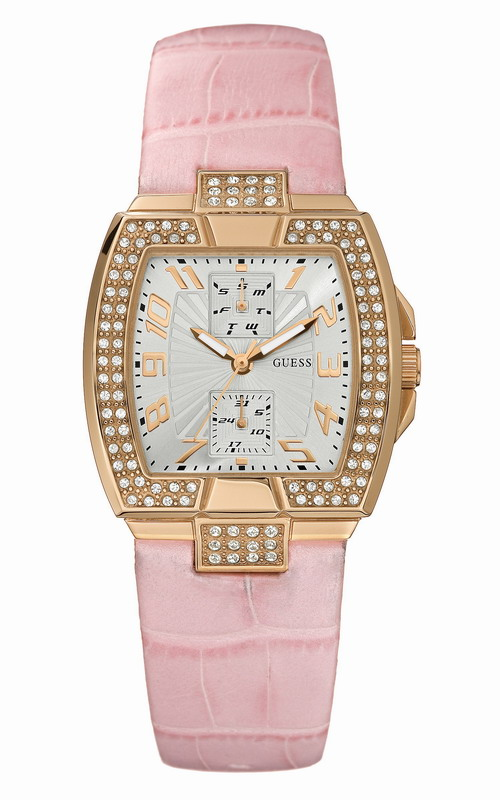 GUESS Gold Stainless Steel Crystal Ladies Calendar W15056L1
