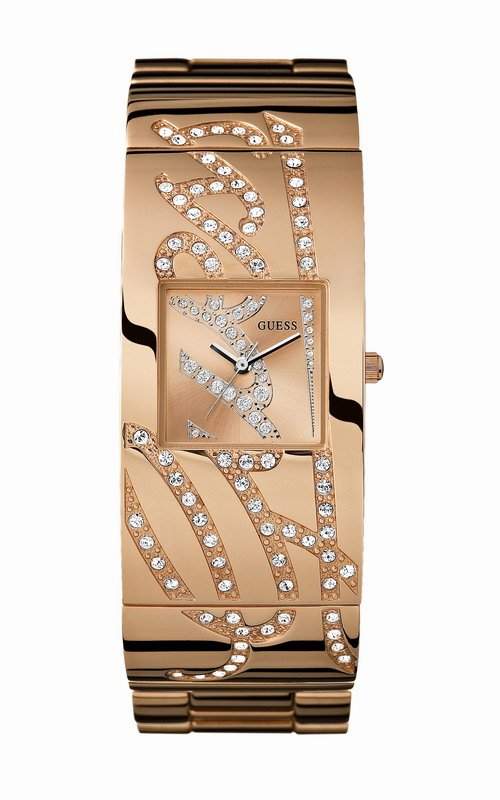 GUESS AUTOGRAPH Swarovski Rose Gold Stainless Steel W16558L1