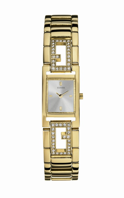GUESS Gold Stainless Steel Bracelet Crystal Ladies W85010L1