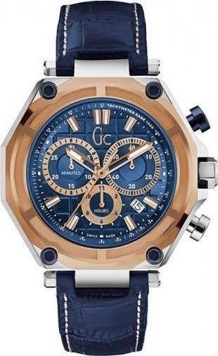 GUESS Collection Blue Leather Chronograph X10002G7S