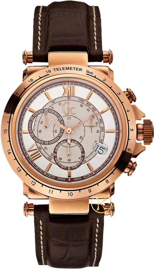 Guess Collection Chronograph Brown Leather Strap X44001G1