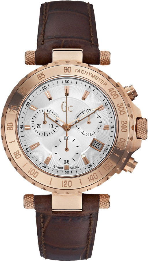 Guess Collection Chronograph Brown Leather Strap X58004G1S