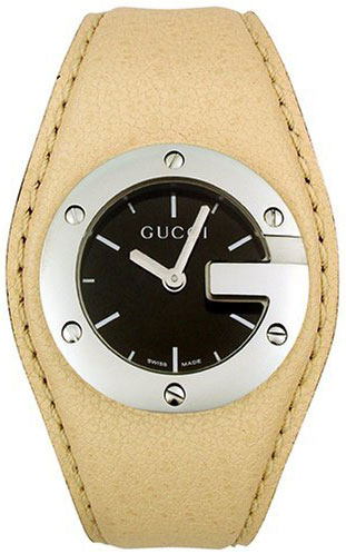 GUCCI 104 G-Round Leather Cuff  YA104501