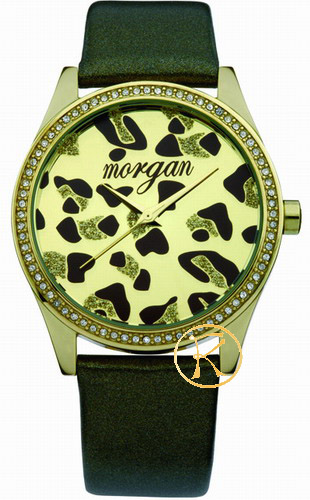 MORGAN DE TOI Brown Leather Strap Animal Print Ladies M1070T