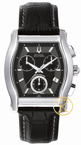 BULOVA ACCUTRON Stratford Black Leather Strap 63B142