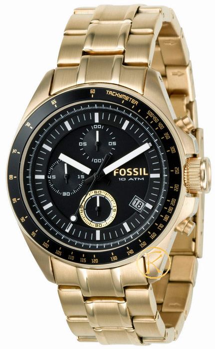 FOSSIL Chronograph Gold Stainless Steel Bracelet CH2610