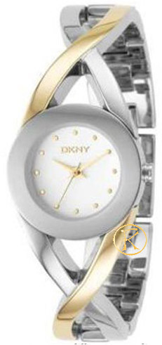 DKNY Ladies Two Tone Stainless Steel Bracelet  NY4715