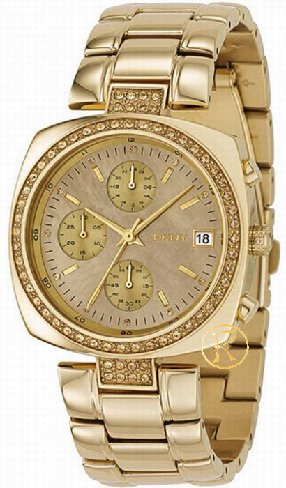 DKNY Crystal Ladies Gold Stainless Steel Bracelet NY4908