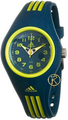 ADIDAS Kids Mini Blue and Yellow Rubber Strap ADM2051