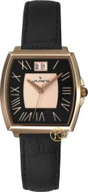 Laurens Lady 3h Black Leather Strap 026377BB