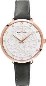 PIERRE LANNIER Eolia Crystals Black Leather Strap 041K609