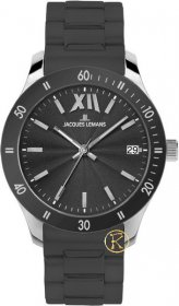 Jacques Lemans Rome Colour Sports Black Rubber Strap 1-1622T