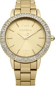 Morgan De Toi Crystal Gold Stainless Steel Bracelet 1229GM