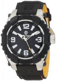 Timberland Hookset Men's Quartz Watch with Black Dial Analogue Display and Black Nylon Strap 13321JSTB/02B
