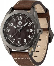 TIMBERLAND Newmarket Black Dial Brown Leather Strap 13330XSU/12