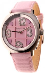 Paris Hilton Pink Fabric Strap 138.4359.99