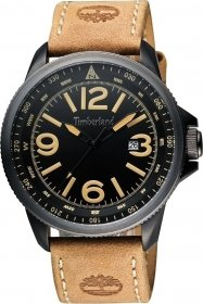 TIMBERLAND Caswell Brown Leather Strap 14247JSBU-02