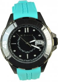 REBECCA Griffe Black Blue Rubber Strap AGRONC81
