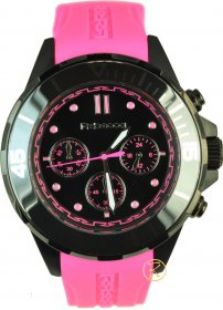 REBECCA Griffe Chronograph Pink Rubber Strap ACRONP82