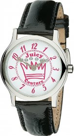 Juicy Couture Black Leather Strap Watch 1900406