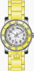 Juicy Couture White Dial Yellow Rubber Strap 1900460