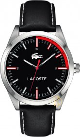 Lacoste Montreal Black Leather Strap 2010733