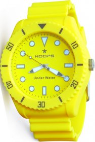 Hoops Under Water Yellow Rubber Strap 2479M-01