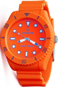 Hoops Under Water Orange Rubber Strap 2479M-02