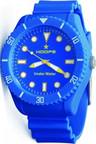 Hoops Hoops Under Water Blue Rubber Strap 2479M-03