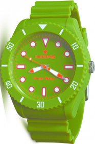 Hoops Under Water Green Rubber Strap 2479M-04
