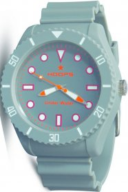 Hoops Under Water Grey Rubber Strap 2479M-05