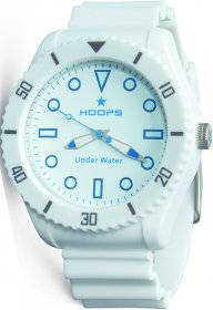 Hoops Under Water White Rubber Strap 2479M-06