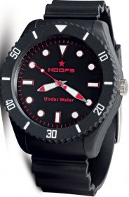 Hoops Under Water Black Rubber Strap 2479M-07