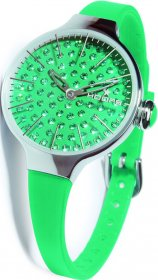 HOOPS Cherie Ladies Diamond Green Rubber Strap 2483LD13