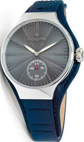 Hoops Dandy Silver Blue Leather Strap 2508MC04
