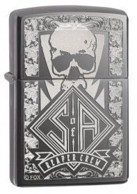 "Zippo SOA Lighter, Sons of Anarchy ""Reaper Crew"", Black Ice 28757"