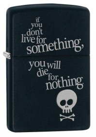 Aναπτήρας Zippo Live for Something - Black Matte 29091