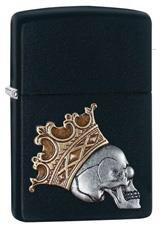 Aναπτήρας Zippo Skull with crown emblem black matte   29100