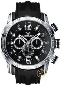 Viceroy Multifunction Black Rubber Strap 42119-55