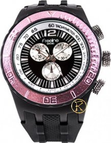 Freeline Black Rubber Strap 6944B