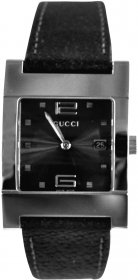 Gucci Black Leather Strap 7700M